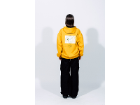 """hoodie """"fear"""" – bright yellow"""