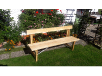 Massivholz-Bank-Tisch