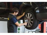 Monatge der Reifen