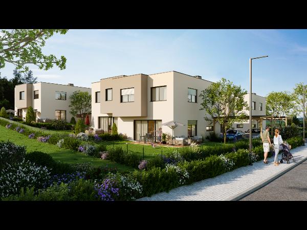 Visualisierung von mehreren Doppelhäusern