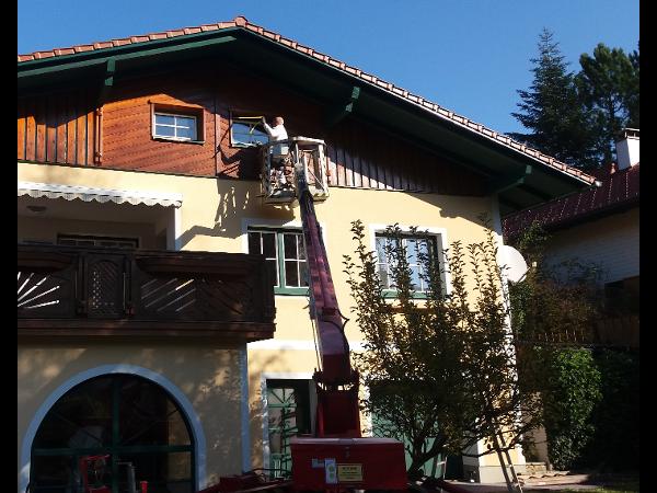 Fassadenmalerei,  Holzanstrich, Innenmalerei