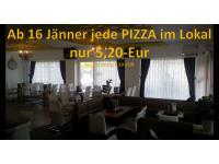 Jede Pizza im Lokal 5,20- EUR