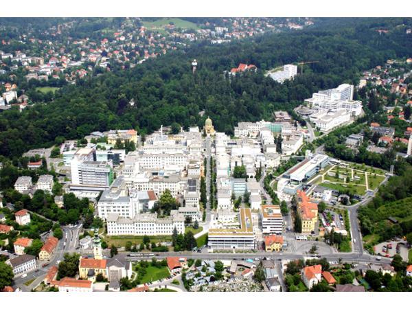 Luftbild des LKH-Univ. Klinikum Graz