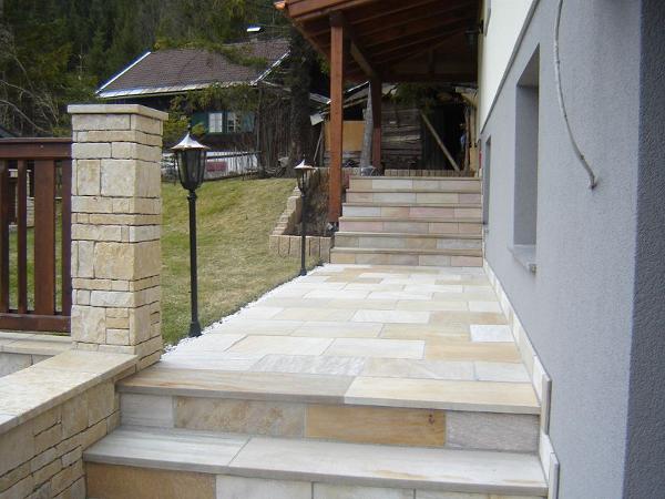 Solimar Quarzit Boden- und Stufenplatten