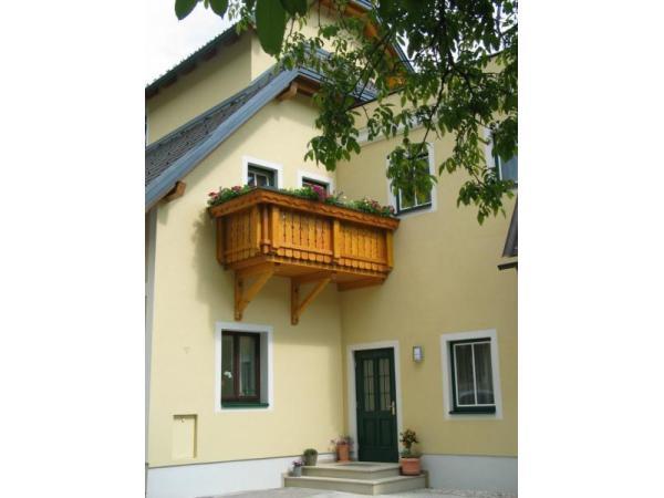 Balkon beim Gästehaus