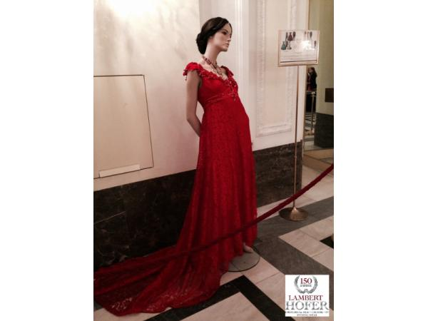 Vorschau - Empire Kleid rot - Verleih und Maßanfertigungen
