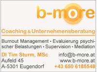 b-more Coaching & Unternehmensberatung DI Tim Sturm, MSc