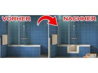 Komfortabel, mühelos und einfach in Ihre Badewanne einsteigen mit unserer Badewannentür