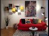 Wohnzimmer-Airbnb Wohnung mit Industrial Design Vibe