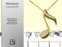 Harmony - 18kt Notenanhänger mit Diamanten