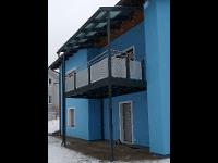 Balkonzubau Vorderansicht