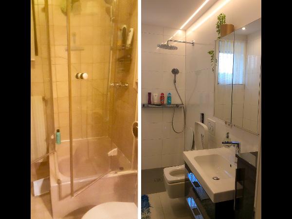 Vorschau - Badezimmersanierung vorher - nachher