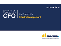 RENT A CFO - sarema Ihr Partner für Interim Management