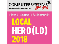 Computersystems for you e.U.: Platz 6 in oberösterreichs Local Hero(ld) 2018 bei IT-Unternehmen