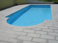 Granit Schwimmbadumrandung und Bodenplatten