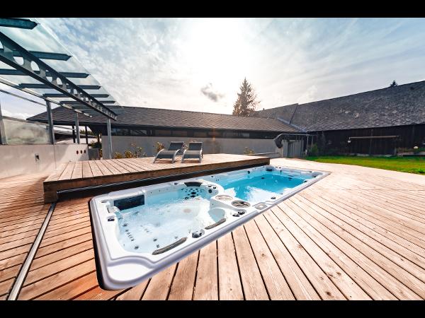 Pool Lounge® mit Swim Spa