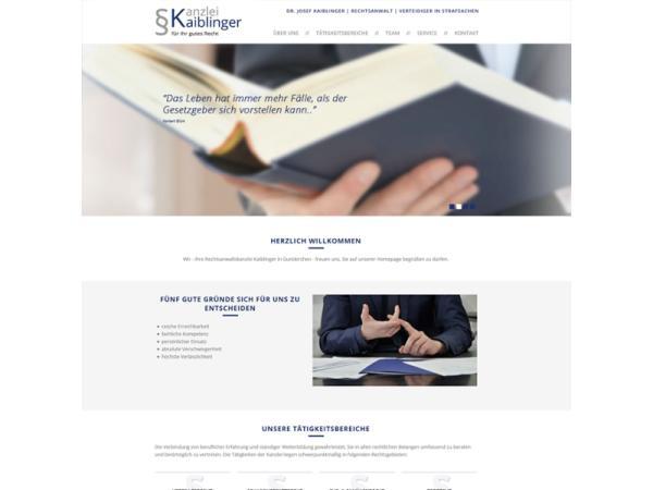 Website Kanzlei Kaiblinger