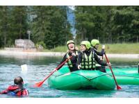 Raftsoccer auf dem Bergsee
