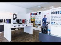 Ausstellungsraum Haushaltsgeräte sowie Pflegemittel und Kaffeesortiment
