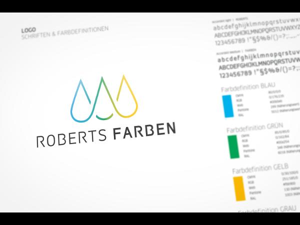 Vorschau - Roberts Farben Logo Relaunch