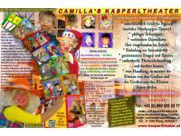 Kleiner Info-Flyer zu Camilla's Kasperltheater - www.kasperltheater.at