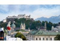 Aussicht vom  IMLAUER SKY- Bar & Restaurant. Einzigartig in Salzburg!