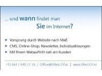 Wann findet man Sie im Internet?