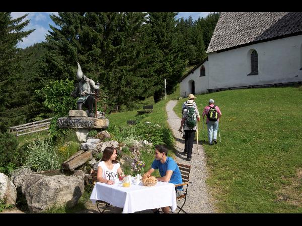 Bergknappendenkmal am Kristberg in Silbertal, dem Genießerberg im Montafon