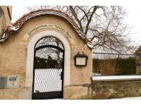 Eingang Gastgarten im Winter