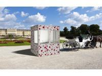 Unsere Designer-Dolmetschkabine mit Blick auf Schönbrunn :)