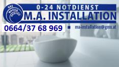M.A. INSTALLATION 0-24 Notdienst Gas - Wasser - Heizung