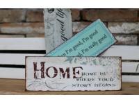 Nostalgie Schilder aus Metall und Holz