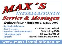 Max's Installationen