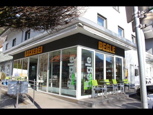 Bäckerei Begle Bludenz, Produktion, Hauptverkaufsstelle