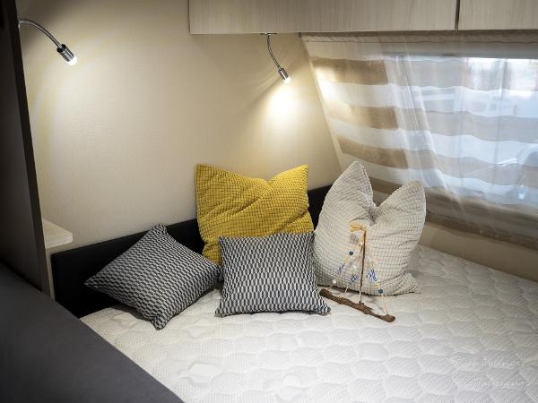 Wohnwagen Innenansicht (Doppelbett)