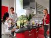 Küche hochglanz rot