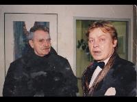 H.C. Artmann & Erich Glück (der Leiter der Konzerdirektion)