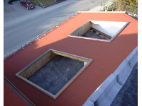Dachterrasseneinfassung aus Bitumen