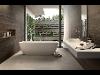 Fliesen in Holzoptik - Freistehende Badewanne