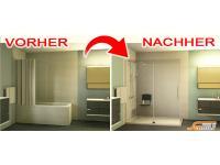 Umbau Badewanne zur Dusche