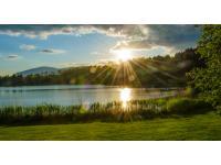 Sonnenuntergang am Maltschacher See