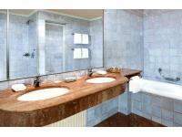 Badezimmer, Hotel Goldener Hirsch