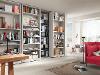 Bücherwand auf 2 Ebenen