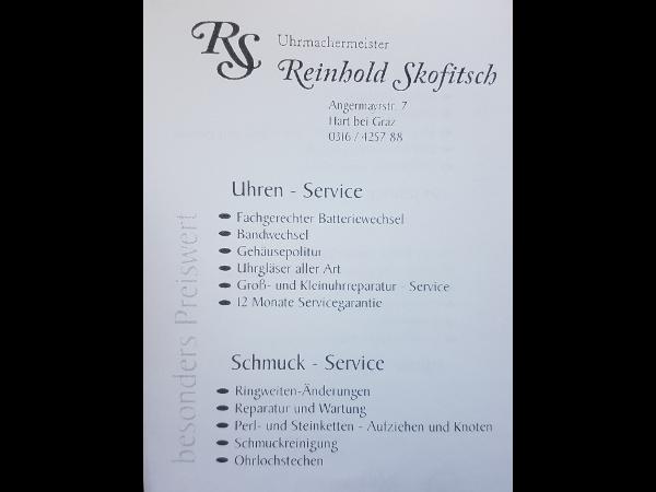 Reinhold Skofitsch - Uhrmachermeister
