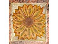 Sonnenblume, Ornament, patiniert