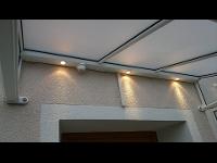 Vordach mit integrierter Beleuchtung