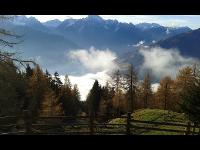 Aussicht auf die Dolomiten und das Pustertal