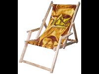 Liegestuhl bedruckt mit eigenen Design