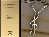 Harmony - 18kt Violinschlußelanhänger