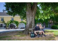 Romantischer Burghof